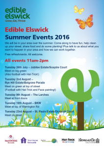 Edible Elswick Summer Flyer 2016