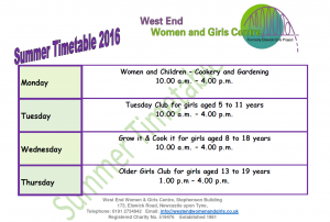 Summer Timetable 2016