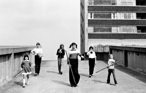 Kenilworth Road Kids (3) - Juvenile Jazz Bands exhibition by Tish Murtha © Ella Murtha